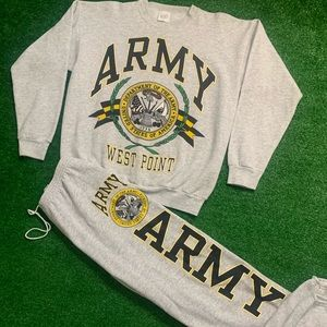 Vintage Army Big Print Sweatsuit